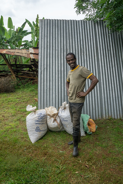 Uche here is experimenting with organic coffee production and permaculture, which isn't seen anywhere in Kenya. We hope to be able to buy from him in the future.