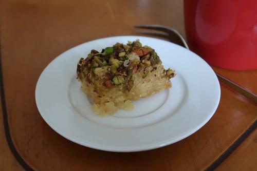 Turkischer Kuchen Mit Pistazien Zum Nachmittagskaffee Gourmandise