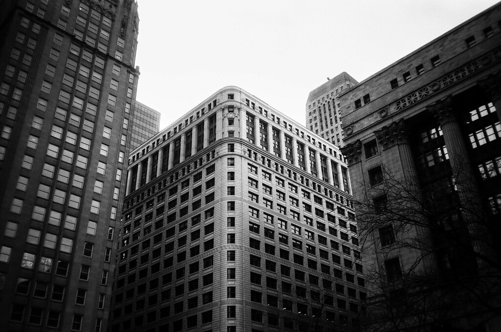 Looking up from Daley Plaza, Chicago