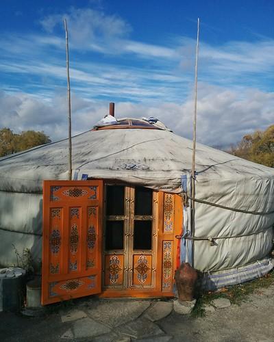 Yurt (exterior) #toronto #torontozoo #yurt #latergram