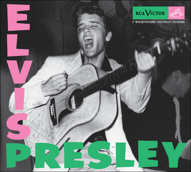 Elvis Presley's first long-playing record album on RCA in the original sleeve.
