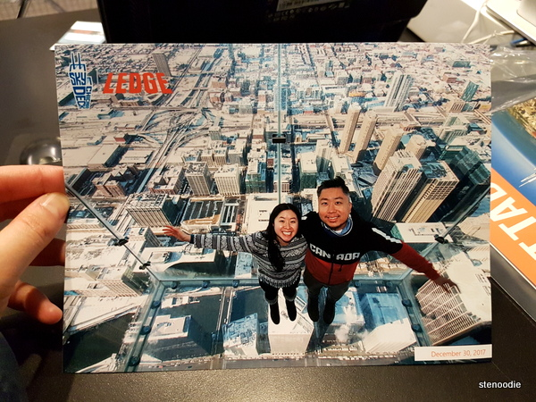 Skydeck Ledge commemorative photo