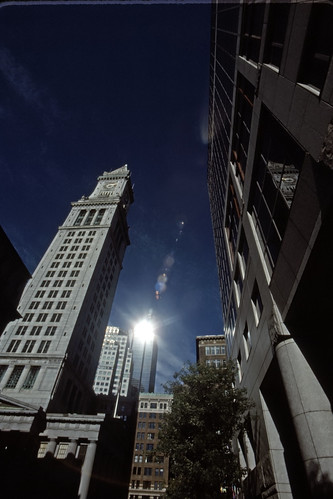 Customs House Tower - Kodachrome - 1991