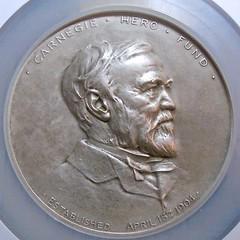1906 Silver Carnegie Hero medal obverse