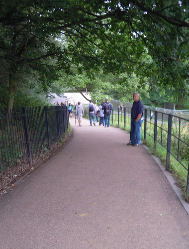 The steep hill down from the Royal Observatory. From Studying Abroad in London: A Quick Ride to Greenwich!