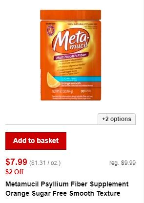 graphic relating to Metamucil Coupons Printable called $1.99 bundle upon Metamucil at CVS this 7 days Continually $9.99!