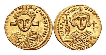 Justinian II. Second reign, 705-711. AV Solidus