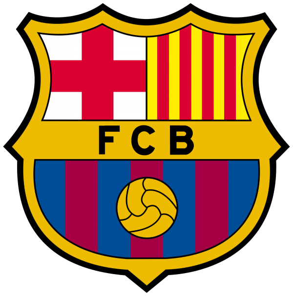 "Vector logo and the logo of the football club ""Barcelona"""