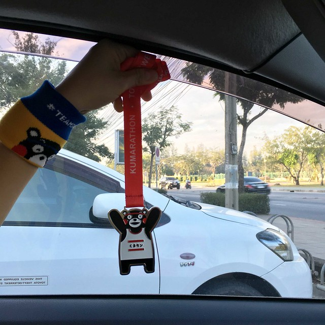 Kumarathon2017 medal in car