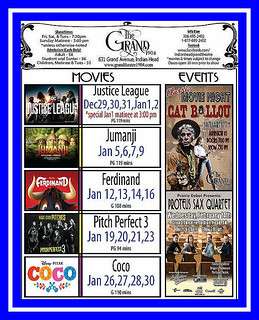 The Grand Theater  -  January Listings 2018