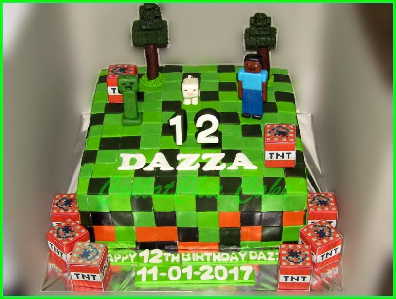 Cake minecraft DAZZA 24cm