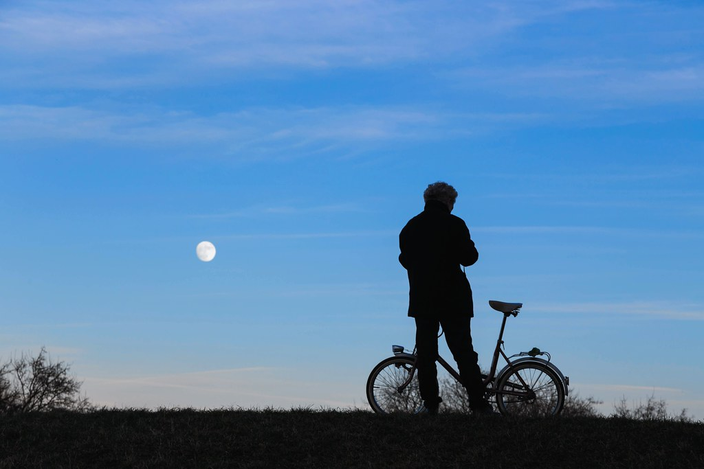 Bike And Moon
