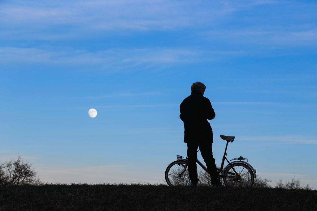 Bike And Moon