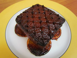 Sweet & Smoky Glazed Tofu Ham