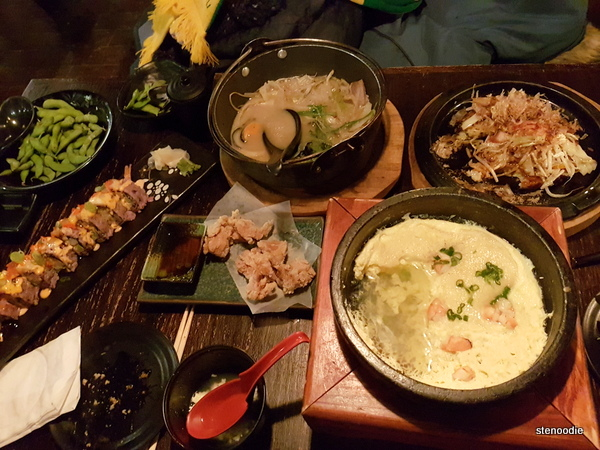 Tsuki Izakaya food