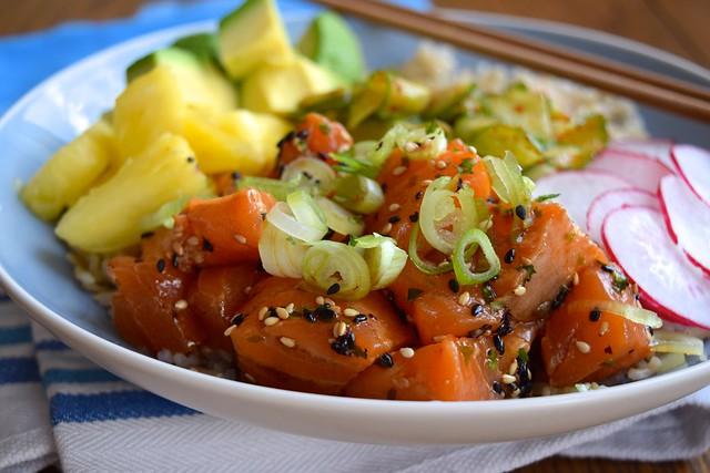 How To Make Salmon Poke #poké #salmon #fish #healthy