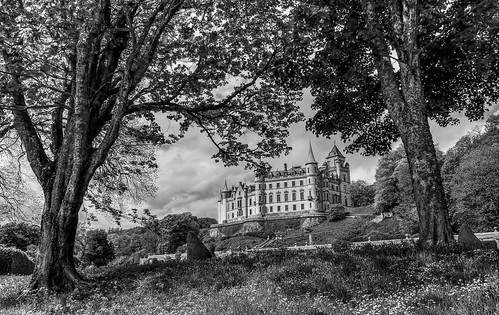 Dunrobin Castle, Golspie, Scotland.(mono)jpg