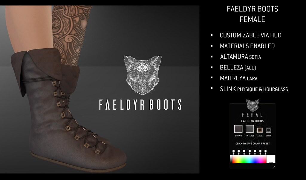 Feral - Faeldyr Boots Female - TeleportHub.com Live!