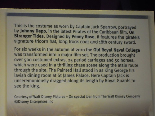 Pirates of the Caribbean Jack Sparrow costume - the movie was partially filmed in the Painted Hall at the Old Royal Naval College. From Studying Abroad in London: A Quick Ride to Greenwich!