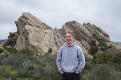 Tom at Vasquez Rocks