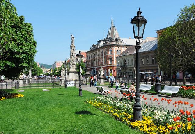 Andrássy Palace on Main Street, Košice, Slovakia