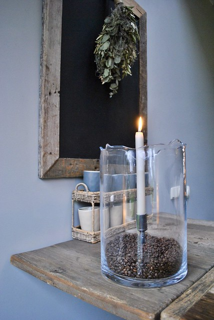 Windlicht koffieboontjes mokken keuken