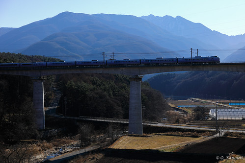 E351系 特急「スーパーあずさ」立場川橋梁