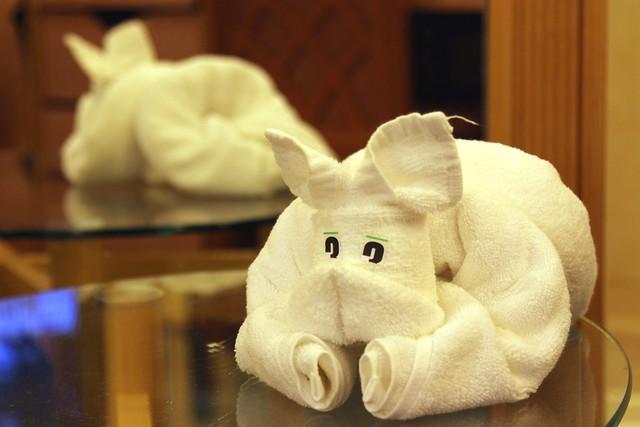 Bulldog ~ Towel Art Folding