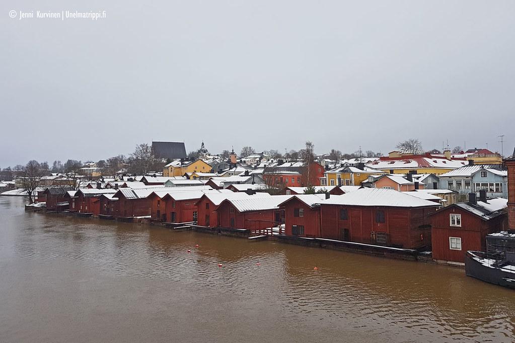Näkymä Porvoon vanhaankaupunkiin