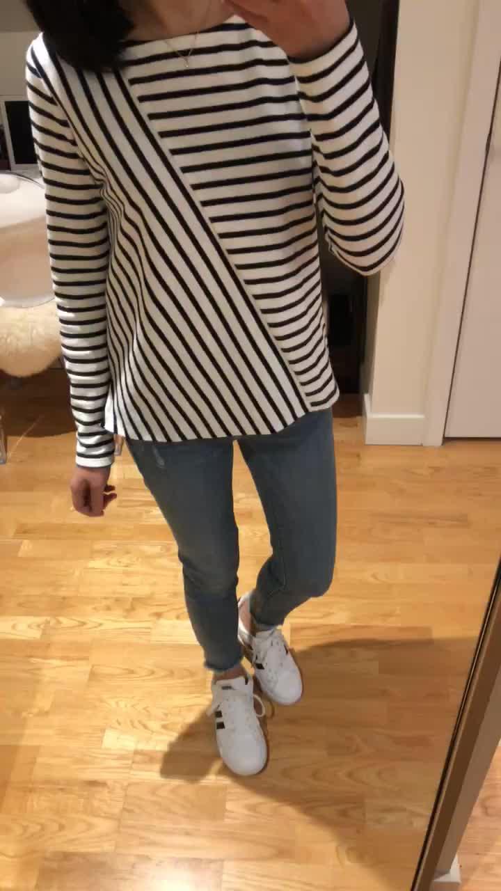 LOFT Mixed Stripe Top, size XS regular