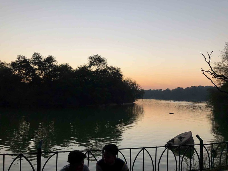 City Walk - Twilight Around the Water, Hauz Khas Lake