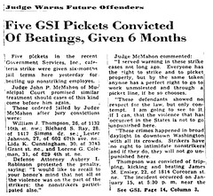 Cafeteria strikers given harsh sentences: 1948