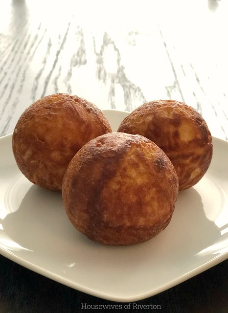 Make your winter morning perfect with these delicious Eggnog Aebleskivers for breakfast! Don't forget to drizzle them with our Eggnog Glaze!   www.housewivesofriverton.com