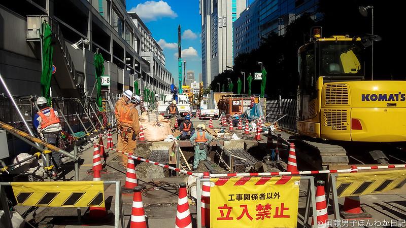 オマケの一枚:リニア新幹線品川駅工事(撮影:筆者)