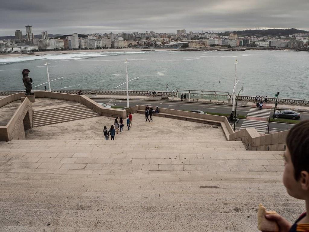 Merienda con vistas. #domus #Coruña #mar #olympus #casadelhombre #riazor #orzan