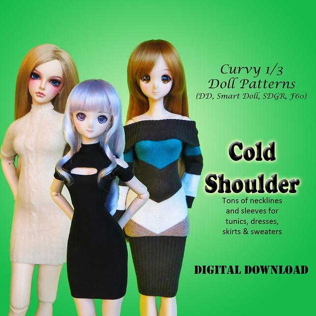 Curvy 1/3 Cold Shoulder