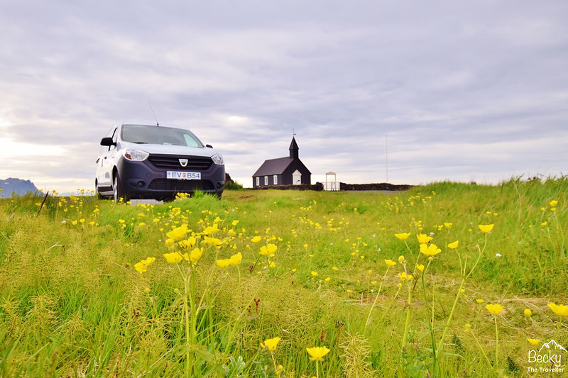 Hiring a campervan in Iceland – Go Campers Iceland review - Campervan stop at Budir Black Church