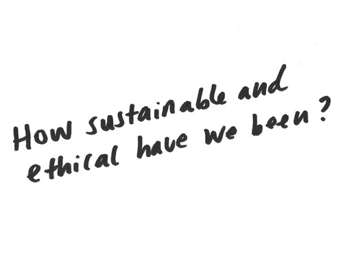 How sustainable have we been?