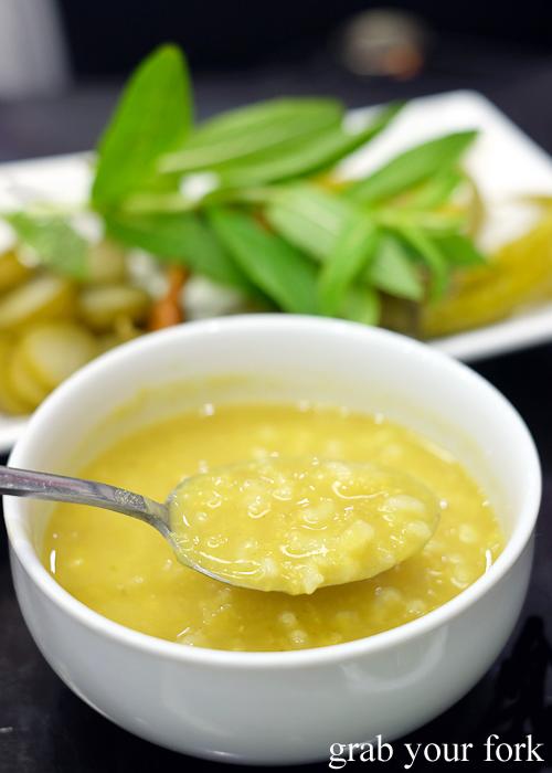 Jameed yoghurt soup at Al Shami in Merrylands