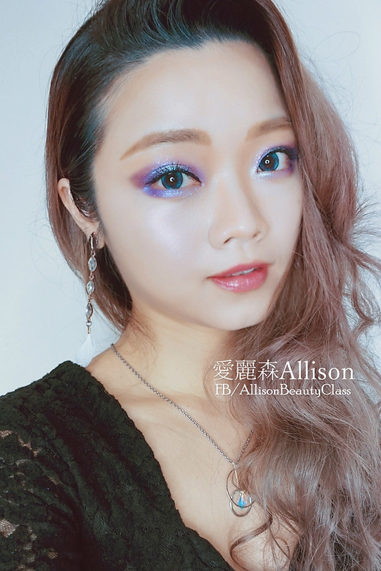 Pantone2018代表色紫外光Ultra Violet妝容|colourpop super shock eyeshadow