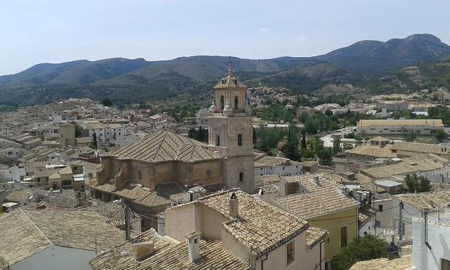 Vista desde el Castillo de Caravaca dela Cruz