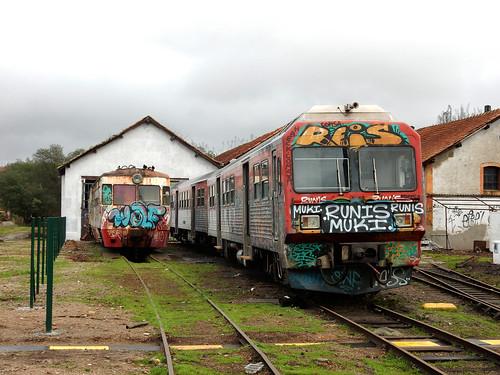Train wrecks at Sernada do Vouga