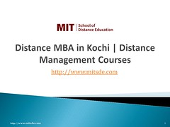 Distance management courses in kochi | Distance MBA | Correspondence MBA | MIT School of Distance Education