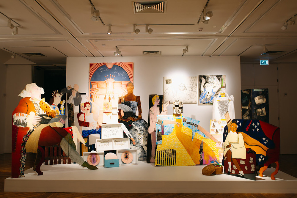 Lubaina Himid, A Fashionable Marriage (1986) at Turner Prize 2017. Courtesy of the artist and Hollybush Gardens. Photo © Tom Arran.