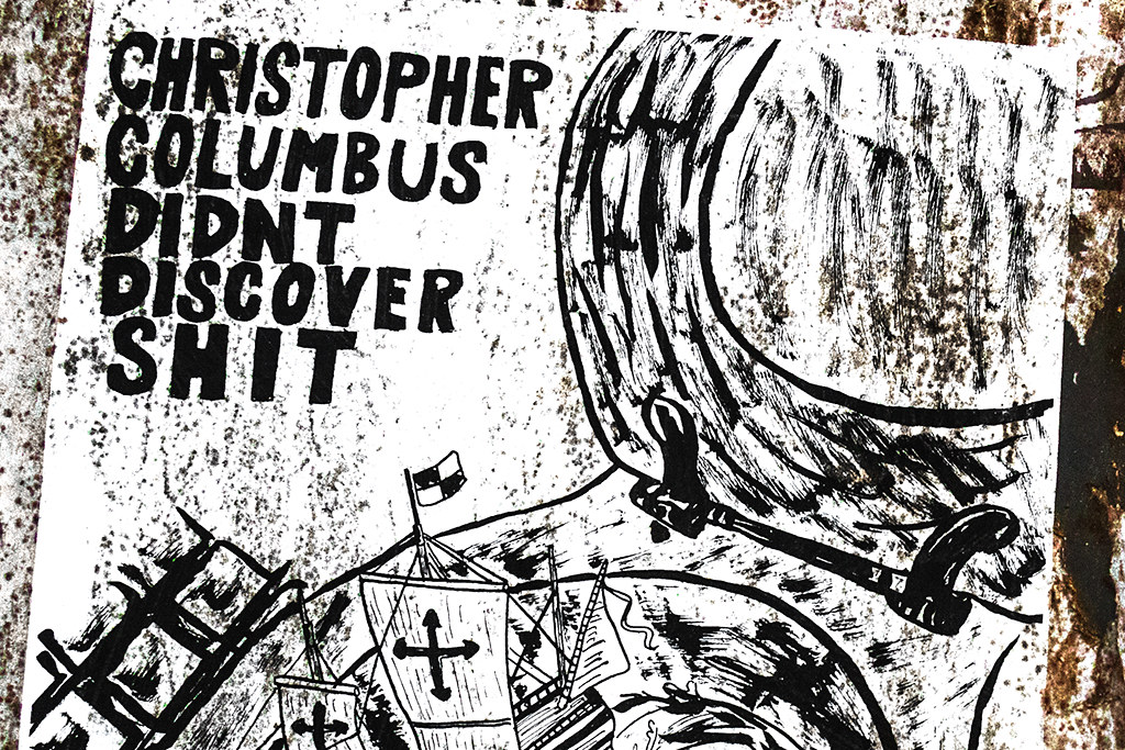 CHRISTOPHER DIDN'T DISCOVER SHIT--Passyunk Square (detail)