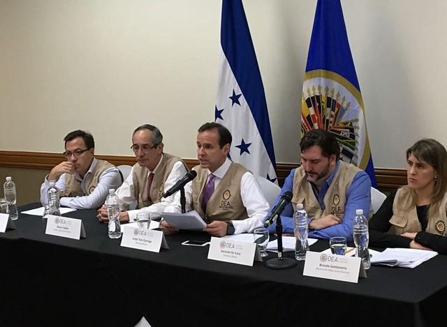 Missão de observadores diz ter encontrado diversas irregularidades nas eleições de Honduras - Créditos: Reprodução/OEA