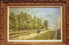 Outskirts of Paris Road with Peasant Shouldering a Spade - Vincent van Gogh