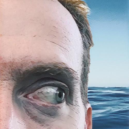 Just looking around . . . . #prisma #ocean #face #eye #eyebrow #oneeyeopen