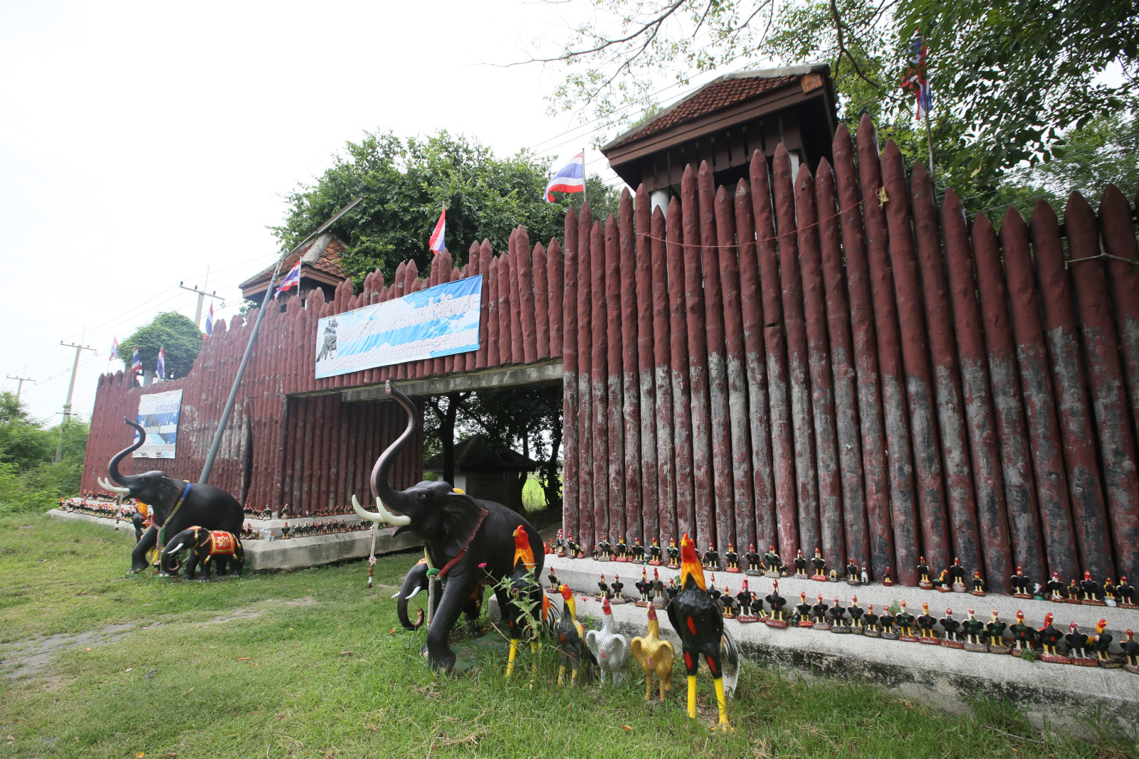 Fort at Bang Rachan Memorial Park in Sing Buri Province. Photo taken on July 19, 2017.