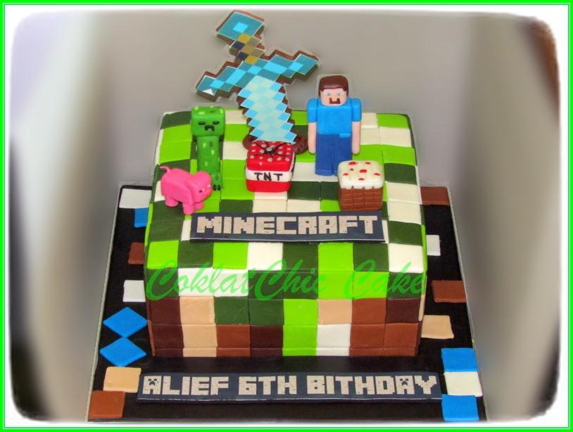 Cake Minecraft ALIEF 15cm